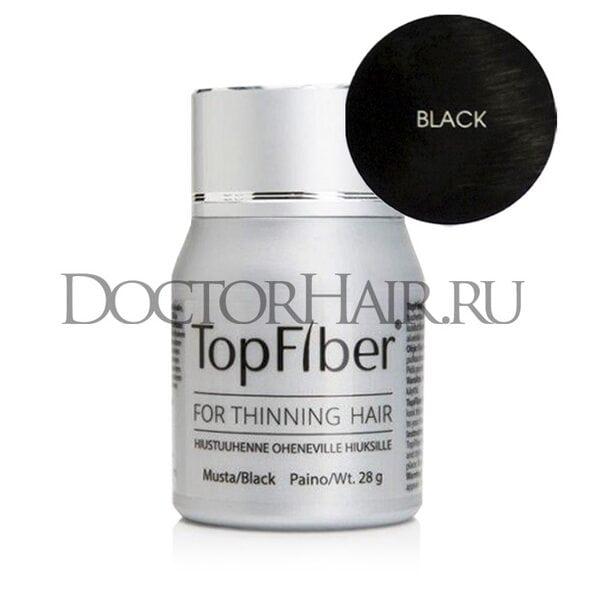 TopFiber Финский кератиновый загуститель волос (чёрный)