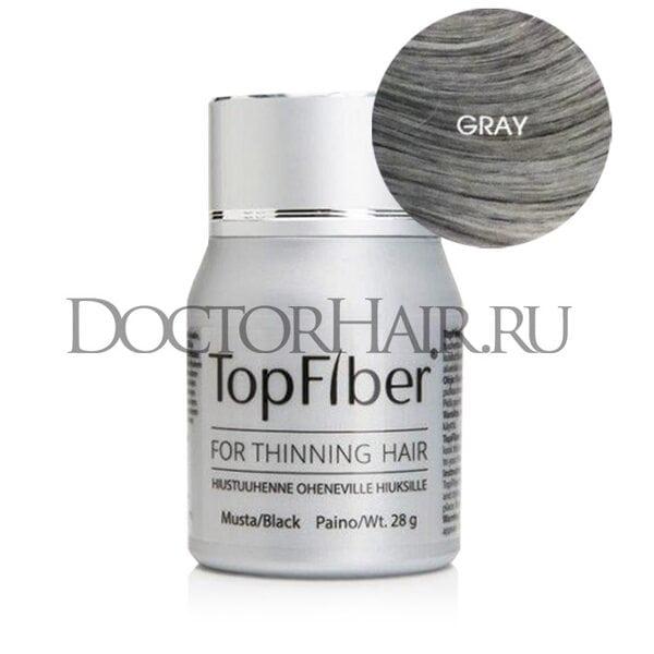 TopFiber Финский кератиновый загуститель волос (пепельный для седых волос)