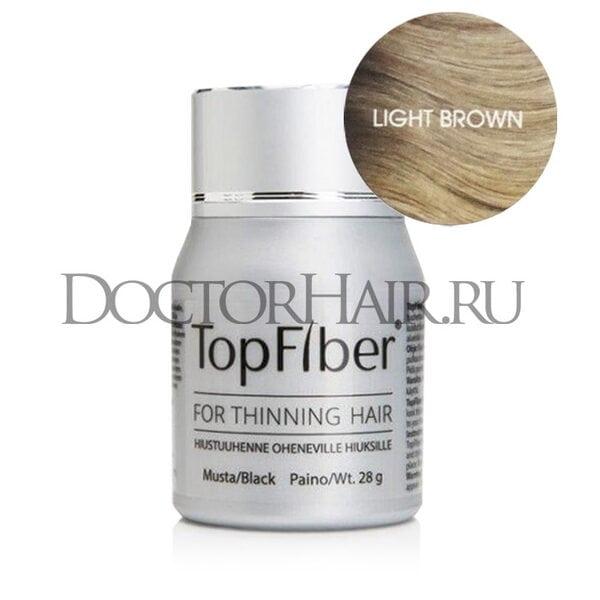 TopFiber Финский кератиновый загуститель волос (светло-коричневый)