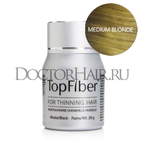TopFiber Финский кератиновый загуститель волос (средний блонд)