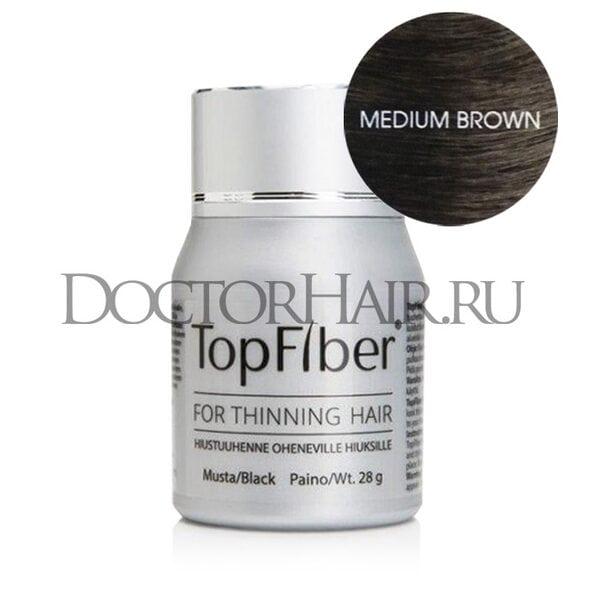 Купить TopFiber Финский кератиновый загуститель волос (средне-коричневый) фото
