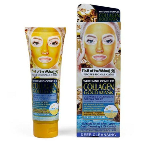 Коллагеновая золотая маска с витаминами А и Е Collagen Gold Mask Wokali