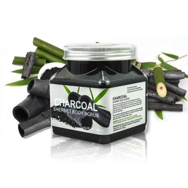 Купить Скраб для тела с бамбуковым углем Wokali Charcoal Sherbet Body Scrub фото