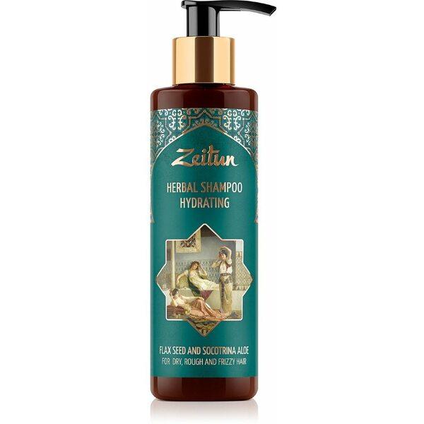Фито-шампунь Зейтун увлажняющий для сухих, жестких и кудрявых волос со льном и сокотрийским алоэ 200 мл