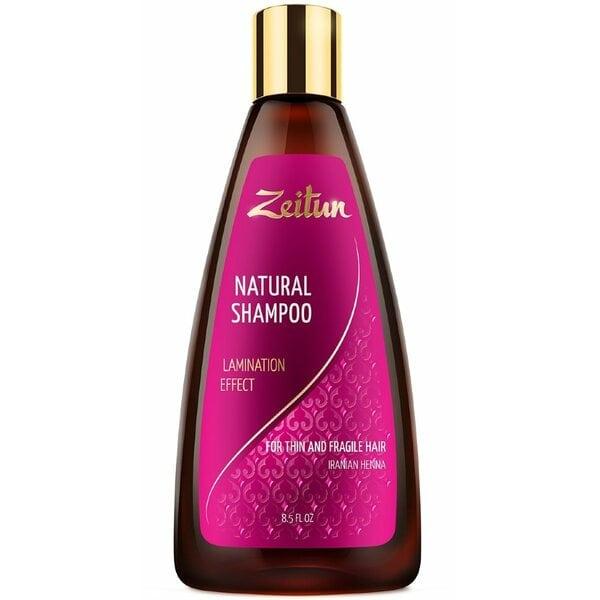 """Шампунь Зейтун """"Эффект ламинирования"""" для тонких и хрупких волос с иранской хной 250 мл"""
