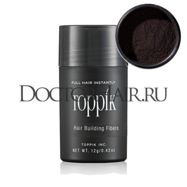 Пудра загуститель для волос Toppik (коричневый)
