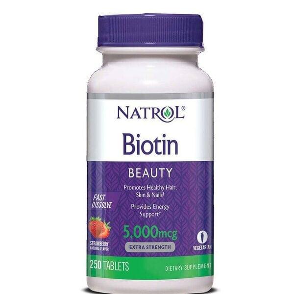 Купить Natrol Биотин 5,000 мкг, 250 таблеток фото