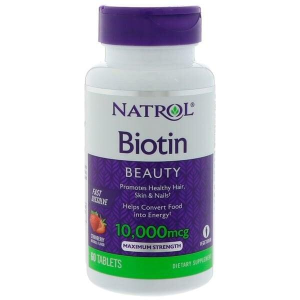 Купить Natrol Биотин 10,000 мкг, 60 таблеток фото