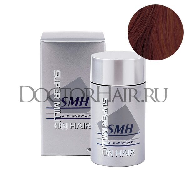 Загуститель Super Million Hair (красновато-коричневый)