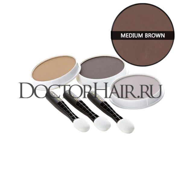 Пудра для волос DermMatch (средне коричневый)