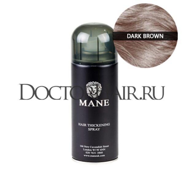 Спрей загуститель волос Mane (темно-коричневый)