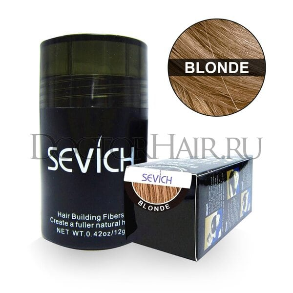 Пудра загуститель для волос Sevich (блонд)