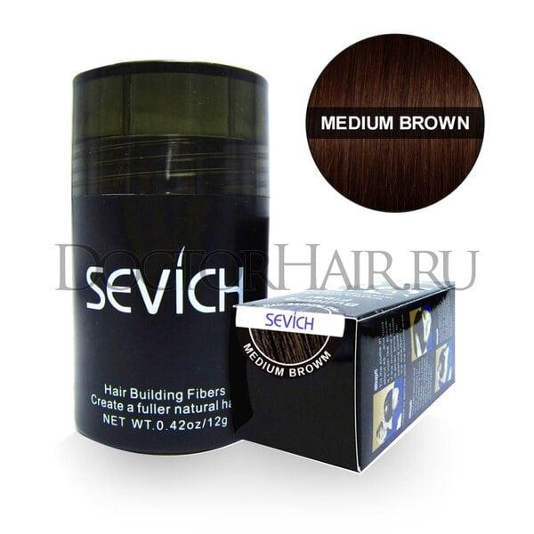 Купить Пудра загуститель для волос Sevich (средне-коричневый) (Старая упаковка) фото