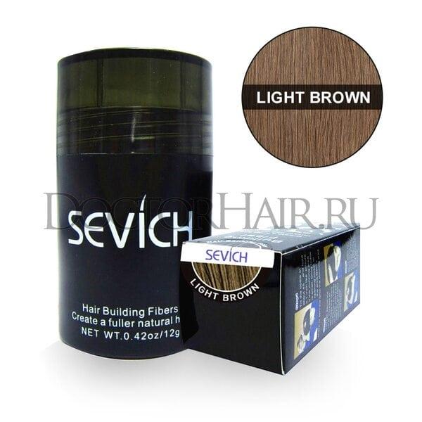 Купить Пудра загуститель для волос Sevich (светло-коричневый) (Старая упаковка) фото