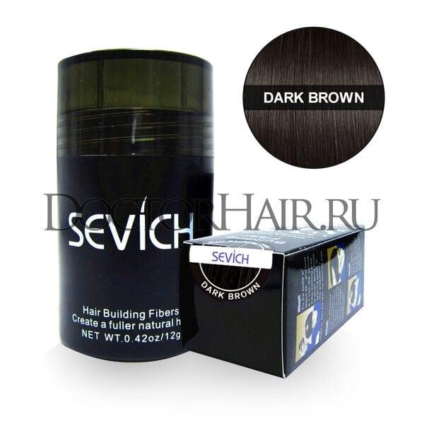 Купить Пудра загуститель для волос Sevich (темно-коричневый) фото