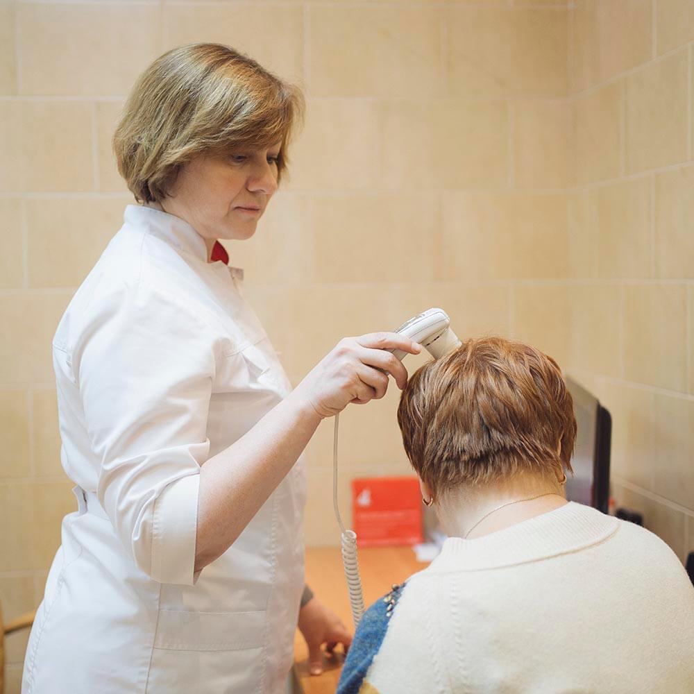 Диагностика демодекоза волос