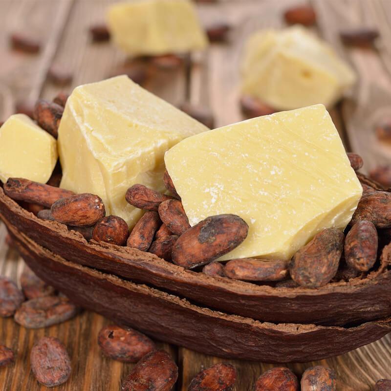 Маска с маслом какао, льна и розмарином