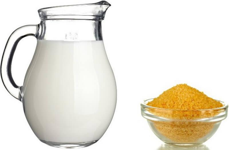 Маска с желатином и молоком