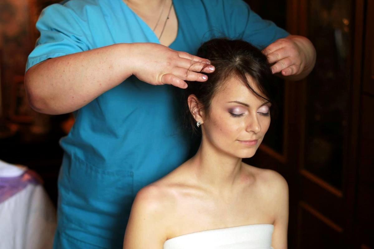 массаж волос