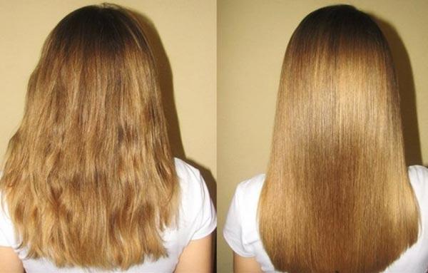 желатиновая маска для волос эффект